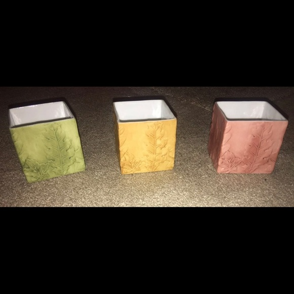 Partylite Fall Ceramic Candle Holders